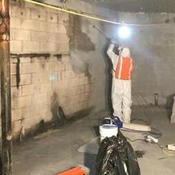 очистка стен после пожара